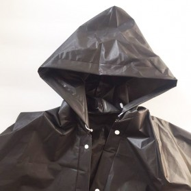 Jas Hujan Portable Raincoat Poncho with Hood - 369 - Black - 4