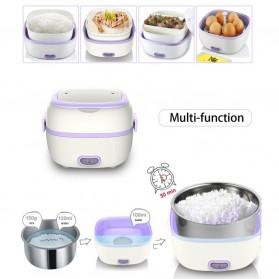 Kotak Makan Lunch Box Mini Rice Cooker Steamer 40W 0.45 Liter - Purple