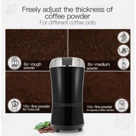 LISM Penggiling Biji Kopi Elektrik Serbaguna Coffee Bean Grinder 400W - SJ711 - Black - 4