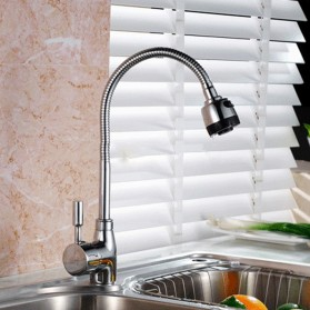 Kepala Keran Air Dapur Flexible Kitchen Shower Hot & Cold - Silver - 4