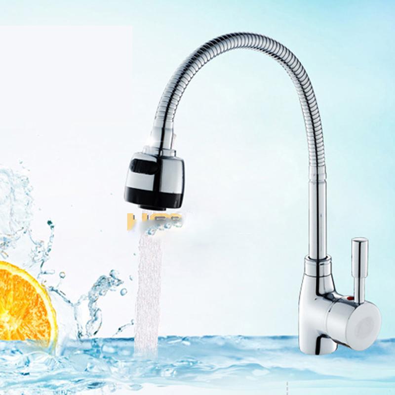 ... Kepala Keran Air Dapur Flexible Kitchen Shower Hot & Cold - Silver - 6 ...
