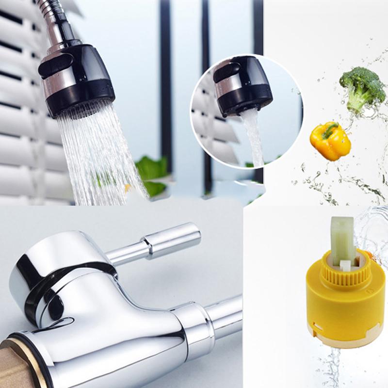 Kepala Keran Air Dapur Flexible Kitchen Shower Hot & Cold - Silver - 7 ...