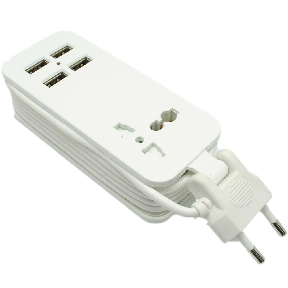 Stop Kontak Colokan Listrik dengan 4 USB Port Fast ...