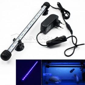 Lampu LED Strip Aquarium 38cm - White Blue Light - White/Blue - 4