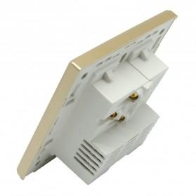 Stop Kontak Universal EU AU & 2 Port USB On/Off Switch - LC-24 - Golden - 4