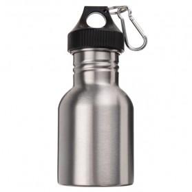 Botol Minum Olahraga Stainless Steel 350ml Dengan Karabiner - Silver
