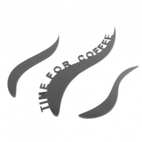 Jam Dinding Quartz Creative Design Model Cangkir Kopi - NS008 - Black - 5