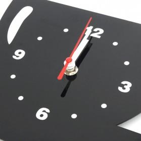 Jam Dinding Quartz Creative Design Model Cangkir Kopi - NS008 - Black - 6