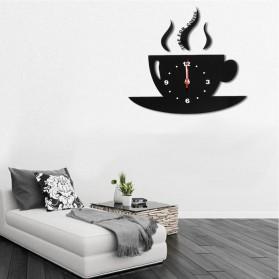 Jam Dinding Quartz Creative Design Model Cangkir Kopi - NS008 - Black - 10