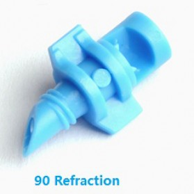 Water Mist Sprinkler Drip Irigasi Air Taman Simple Nozzle 90 Degree 10 PCS - Blue