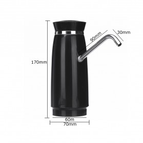 Pompa Elektrik Air Minum Galon Rechargeable 1200mAh - B1 - Black - 9