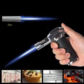 Yofeil Mancis Korek Api Gas Refillable Butane Torch Model Adjustable Flame Gun - TS-19 - Black