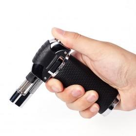Yofeil Mancis Korek Api Gas Refillable Butane Torch Model Adjustable Flame Gun - TS-19 - Black - 2