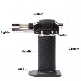 Yofeil Mancis Korek Api Gas Refillable Butane Torch Model Adjustable Flame Gun - TS-19 - Black - 5