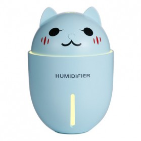 Taffware Cute Pet Humidifier Aromatherapy Oil Diffuser 3 in 1 + LED Light + USB Fan - HUMI H1 - Blue