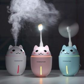 Taffware Cute Pet Humidifier 3 in 1 + LED Light + USB Fan - HUMI H1 - Blue - 3