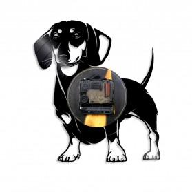Jam Dinding Quartz Creative Design Model Doggy - NS005 - Black - 2