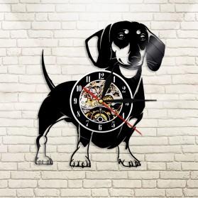 Jam Dinding Quartz Creative Design Model Doggy - NS005 - Black - 3