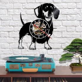 Jam Dinding Quartz Creative Design Model Doggy - NS005 - Black - 5