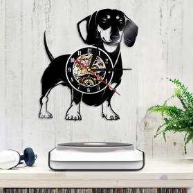 Jam Dinding Quartz Creative Design Model Doggy - NS005 - Black - 6