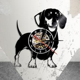 Jam Dinding Quartz Creative Design Model Doggy - NS005 - Black - 8