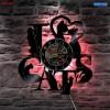 Jam Dinding Quartz Creative Design Model Cat LED - NS009 - Black