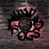Jam Dinding Quartz Creative Design Model I Love Dog LED - NS012 - Black