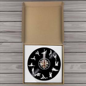 Jam Dinding Quartz Creative Design Model Kamasutra - NS013 - Black - 2