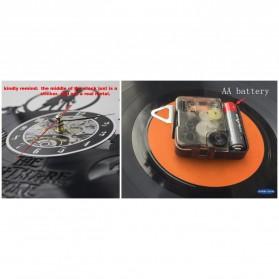 Jam Dinding Quartz Creative Design Model Dancing Pole - NS015 - Black - 4
