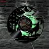 Jam Dinding Quartz Creative Design Model Wolf LED - NS010 - Black