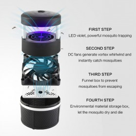 Pembasmi Nyamuk UV LED Photocatalyst Mosquito Repellent 5W - XY806 - Black - 2