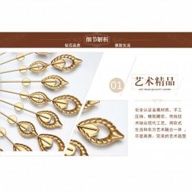 Jam Dinding 3D Quartz Creative Design Model Bulu Merak Elegan - T6901 - Golden - 6