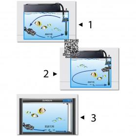 SUNSUN Pompa Air Ombak Akuarium Wave Maker Pump 6W - JVP-120 - Black - 4