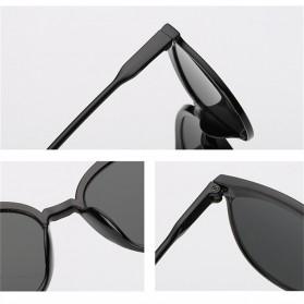 Kacamata Vintage Cat Eye Wanita Sunglasses UV Protection - 15940 - Black - 2