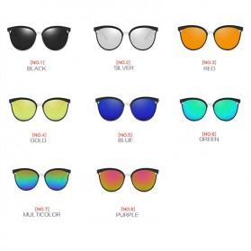 Kacamata Vintage Cat Eye Wanita Sunglasses UV Protection - 15940 - Black - 3