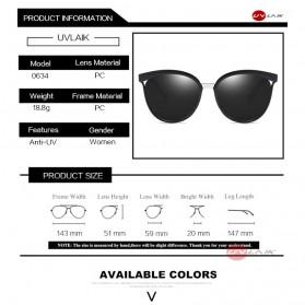 Kacamata Vintage Cat Eye Wanita Sunglasses UV Protection - 15940 - Black - 4