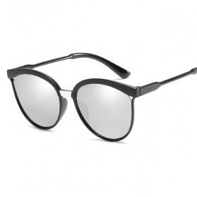 Kacamata Vintage Cat Eye Wanita Sunglasses UV Protection - 15940 - White