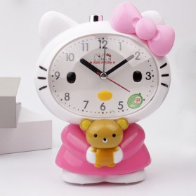 Jam Meja Analog Model Hello Kitty - Pink