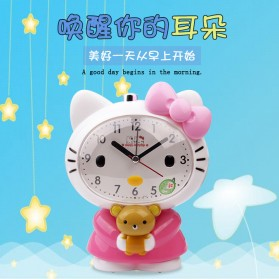Jam Meja Analog Model Hello Kitty - Pink - 2