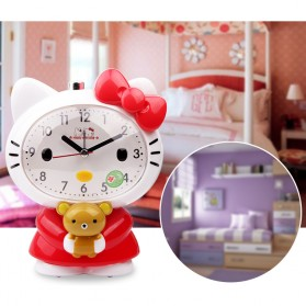 Jam Meja Analog Model Hello Kitty - Pink - 5