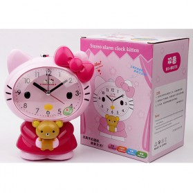 Jam Meja Analog Model Hello Kitty - Pink - 7