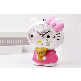 Jam Meja Analog Model Hello Kitty - Pink - 8