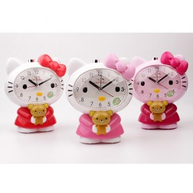 Jam Meja Analog Model Hello Kitty - Pink - 9