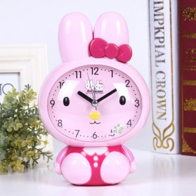 Jam Meja Analog Model Cute Rabbit - Pink