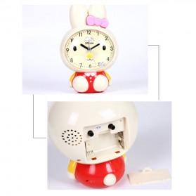 Jam Meja Analog Model Cute Rabbit - Pink - 3