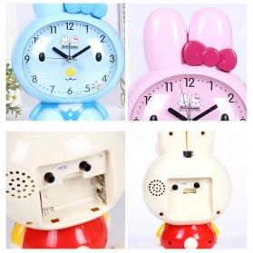 Jam Meja Analog Model Cute Rabbit - Pink - 5