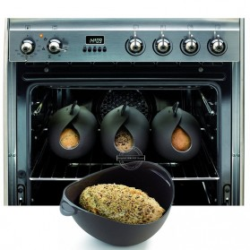 Mangkok Penutup Steamer Microwave Silicone Bowl Cooker - Green - 4
