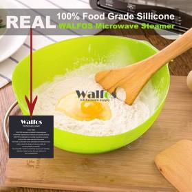 Mangkok Penutup Steamer Microwave Silicone Bowl Cooker - Green - 5