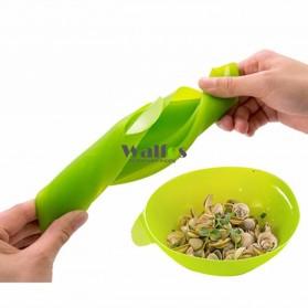 Mangkok Penutup Steamer Microwave Silicone Bowl Cooker - Green - 6