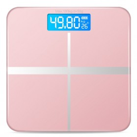 Timbangan Badan Digital Home Scale 180KG with Temperature Sensor - Rose Gold